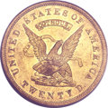 Territorial Gold, 1853 $20 Assay Office Twenty Dollar, 900 Thous. MS63 PCGS. K-18,R.2....
