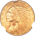 Indian Half Eagles, 1912 $5 MS64+ NGC....