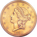 Liberty Double Eagles, 1850 $20 XF45 PCGS. CAC....
