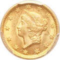 Gold Dollars, 1849-O G$1 Open Wreath MS64 PCGS. Variety 2....