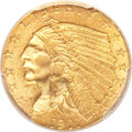 Indian Quarter Eagles, 1911-D $2 1/2 Strong D MS64 PCGS. CAC....