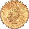 Indian Eagles, 1910-S $10 MS62 NGC....