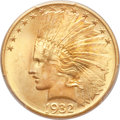Indian Eagles, 1932 $10 MS65+ PCGS. CAC....