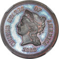 1868 5C Five Cents, Judd-634, Pollock-706, High R.7, PR64 ★ Brown NGC. CAC....(PCGS# 60852)