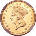 Gold Dollars, 1860-S G$1 MS62 NGC....