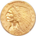 Indian Quarter Eagles, 1914-D $2 1/2 MS64 PCGS....