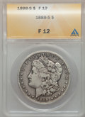 Morgan Dollars: , 1888-S $1 Fine 12 ANACS. NGC Census: (8/3741). PCGS Population(19/6402). Mintage: 657,000. Numismedia Wsl. Price for probl...