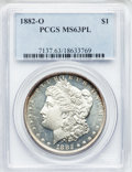 Morgan Dollars: , 1882-O $1 MS63 Prooflike PCGS. PCGS Population (230/192). NGCCensus: (215/206). Numismedia Wsl. Price for problem free NG...