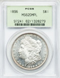 Morgan Dollars: , 1896 $1 MS62 Deep Mirror Prooflike PCGS. PCGS Population (81/608).NGC Census: (35/331). Numismedia Wsl. Price for problem...