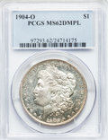 Morgan Dollars: , 1904-O $1 MS62 Deep Mirror Prooflike PCGS. PCGS Population(45/549). NGC Census: (19/531). Numismedia Wsl. Price for probl...