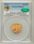 Indian Quarter Eagles, 1913 $2 1/2 MS64+ PCGS Secure. CAC....