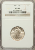 Standing Liberty Quarters: , 1921 25C MS65 NGC. NGC Census: (81/23). PCGS Population (89/20).Mintage: 1,916,000. Numismedia Wsl. Price for problem free...