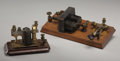 Antiques:Decorative Americana, Pair of Telegraph Receivers. ... (Total: 2 Items)