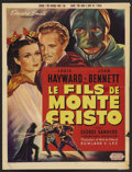 """Movie Posters:Adventure, The Son of Monte Cristo (United Artists, R-1940s). Belgian (14.5"""" X19.5""""). Adventure. ..."""