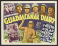 "Movie Posters:War, Guadalcanal Diary (20th Century Fox, 1943). Title Lobby Card (11"" X14""). War. ..."