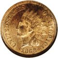1868 1C PR64 Red Cameo NGC. A boldly struck specimen, with glassy, reflective fields. The variegated russet coloration i...