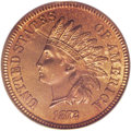 Proof Indian Cents: , 1872 1C PR66 Red and Brown PCGS. A rare and in-demand early semikey date in the Indian cent series. A bipartite coin, with ...