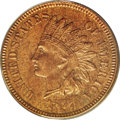 Proof Indian Cents: , 1877 1C PR62 Red and Brown ANACS. This exquisitely defined key date cent offers variegated gold and sea-green coloration. C...