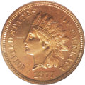"""Proof Indian Cents: , 1877 1C PR65 Red NGC. This example of the always-popular key-date 1877 issue is from the proof die that shows a raised """"blo..."""