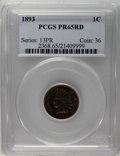 Proof Indian Cents: , 1893 1C PR65 Red PCGS. A melange of crimson, copper-gold, and lime-green bathes bright surfaces, and the design elements re...