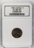 Proof Lincoln Cents: , 1909 1C PR65 Red NGC. A full red matte proof, with subdued fields still glowing as when first struck. The design elements a...