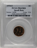 Proof Lincoln Cents: , 1970-S 1C Small Date PR69 Red PCGS. By far the scarcer of the two logotype varieties for the issue. A needle-sharp and esse...