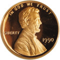 Proof Lincoln Cents: , 1990-S 1C No S PR67 Red Deep Cameo PCGS. In 1990, a small number of proof Lincoln cents were struck without mintmarks, and ...