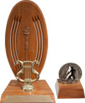 Movie/TV Memorabilia:Awards, A Glenn Ford Set of 'Humanitarian' Awards, 1957, 1965.... (Total: 2 Items)