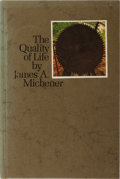Books:Literature 1900-up, James A. Michener. SIGNED. The Quality of Life. Girard Bank,1970. First edition, first printing. Signed by the au...