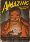 Books:Pulps, [Pulps]. Amazing Stories. Vol. 21. No. 8. Ziff-Davis,August, 1947. Rubbing and light wear to publisher's wrappe...
