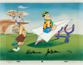 "Animation Art:Production Cel, The Flintstones ""Bedrock Air Port"" Limited Edition Cel AP#3/20 (Hanna-Barbera, 1989)...."