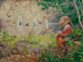 Mainstream Illustration, PETER SHEAF NEWELL (American, 1862-1924). Fairyland. Oil onpanel. 12 x 16 in.. Signed lower right. ...