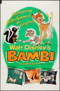 "Movie Posters:Animation, Bambi (Buena Vista, R-1957). One Sheet (27"" X 41""). Animation.. ..."
