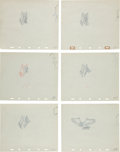 Animation Art:Production Drawing, Vulture Production Drawing Animation Art Group (undated)....(Total: 6 Original Art)