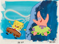 Animation Art:Production Cel, SpongeBob SquarePants First Season Production Cel withBackground (Nickelodeon, 1999)....