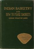 Books:Americana & American History, George Wharton James. Indian Basketry, and How to Make Indianand Other Baskets. Malkan, 1909. Fourth edition. M...