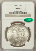 Morgan Dollars: , 1898-O $1 MS66 NGC. CAC. NGC Census: (1858/174). PCGS Population(1858/154). Mintage: 4,440,000. Numismedia Wsl. Price for ...