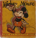 Books:Children's Books, [Big Little Book]. Walt Disney. Mickey Mouse. Whitman, 1933.First edition, first printing. Rubbing and foxing to bi...