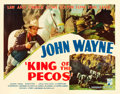 "Movie Posters:Western, King of the Pecos (Republic, 1936). Half Sheet (22"" X 28"").. ..."