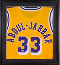 Basketball Collectibles:Uniforms, Kareem Abdul Jabbar Signed Los Angeles Lakers Jersey. ...