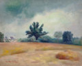 Paintings, GUY PÈNE DU BOIS (American, 1884-1958). Hayfield. Oil on canvas. 18 x 22 inches (45.7 x 55.9 cm). Signed lower left: G...
