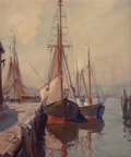 American:Still Life, EMILE ALBERT GRUPPE (American, 1896-1978). Harbor Scene. Oilon canvas. 30 x 25 inches (76.2 x 63.5 cm). Signed lower ri...