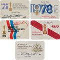 Movie/TV Memorabilia:Autographs and Signed Items, A Glenn Ford Collection of Signed 'Academy of Motion Picture Artsand Sciences' Membership Cards, 1970s.... (Total: 5 Items)