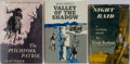 Books:Fiction, [Westerns]. Group of Three First Edition, First Printing Books.Various publishers, 1954-1970. Very good or better condition...(Total: 3 Items)