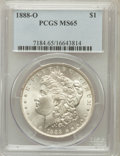 Morgan Dollars: , 1888-O $1 MS65 PCGS. PCGS Population (1744/211). NGC Census:(1328/41). Mintage: 12,150,000. Numismedia Wsl. Price for prob...