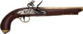 Handguns:Muzzle loading, English Brass-Barreled Flintlock Pistol by Ketland & Co....