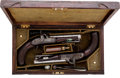 Handguns:Muzzle loading, Cased Pair of English Single-Shot Percussion Horse or Traveling Pistols by Smith, London. ... (Total: 2 Items)