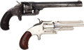 Handguns:Single Action Revolver, Lot of Two Smith & Wesson Spur Trigger Pocket Revolvers....(Total: 2 Items)
