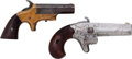 Handguns:Single Action Revolver, Lot of Two Derringers.... (Total: 2 Items)