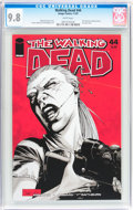Modern Age (1980-Present):Horror, Walking Dead #44 (Image, 2007) CGC NM/MT 9.8 White pages....